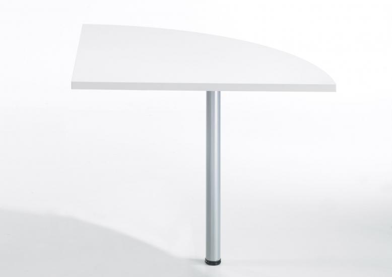 Prima Skrivebordsmodul - Hvid m/metalben - Hjørnemodul til Prima Skrivebord