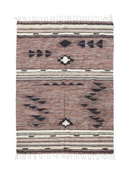 House Doctor Tribe Tæppe 200x140 Grafisk mønster