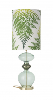 Ebb&Flow - Futura lampefod, forest grøn, Guld base