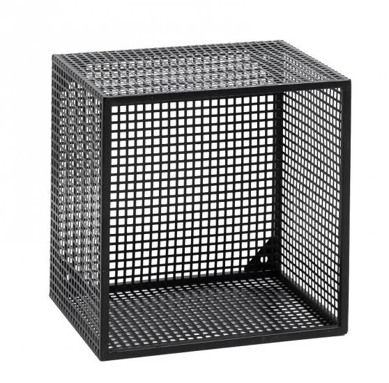 Nordal - Wire Bogkasse 32x32 cm - Sort - Bogkasse i sort