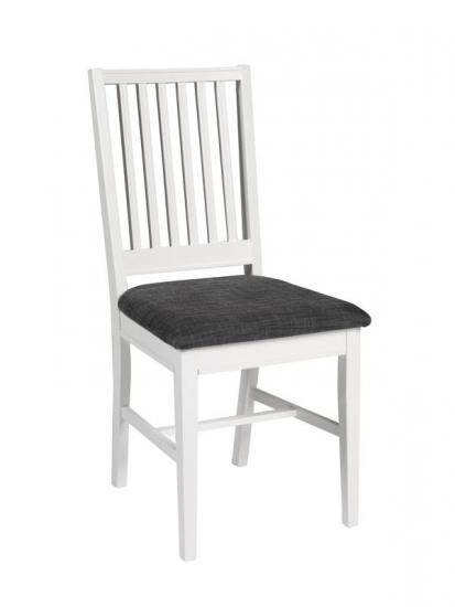 Moss Spisebordsstol - Hvid - Hvid spisebordsstol med gråt sæde
