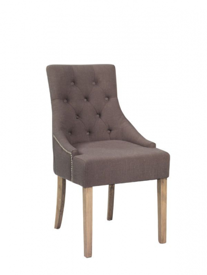 Stella Spisebordsstol - Grå - Grå spisebordsstol i stof