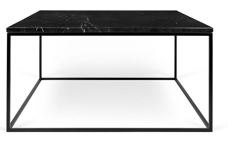Temahome Gleam Sofabord - Sort marmor, sort stel 75 cm