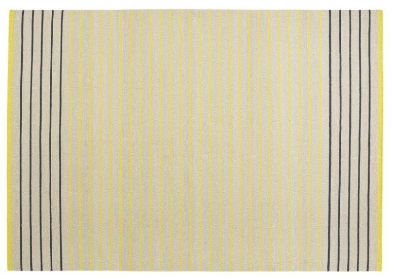 Fabula Living - Poppy Gul Kelim - 140x200 - Håndvævet Kelim 140x200 cm