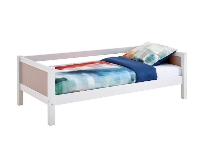 FLEXA Nordic Color Sofaseng 90x200 - Hvid/rosa