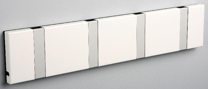 KNAX knagerække - Hvid - 4 aluknager - Knagerække med 4 aluminiumsknager