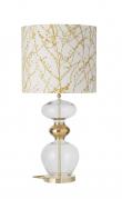 Ebb&Flow - Futura lampefod, Klar/Guld, Guld base