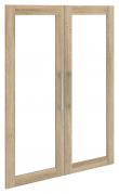 Prima Ekstralåger - 2 stk. Lys træ m/glas