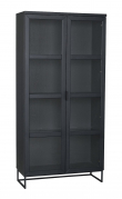 Everett Vitrineskab H195 cm - Sort - 100% FSC®-certifieret træ