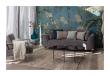 Zuiver Dragon 3-pers. sofa - Lys grå fløjl