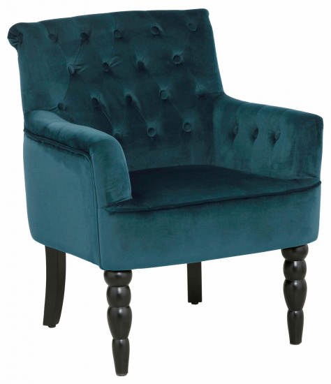 Amanda Lænestol i grøn velour