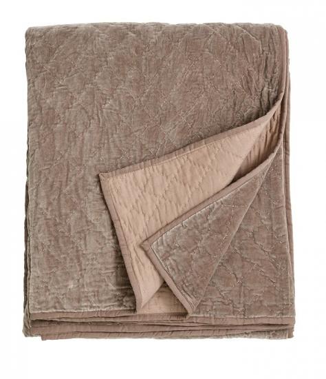 Moderne Nordal - Sengetæppe Quiltet velour - Sand - Gratis fragt LH53