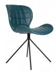 Zuiver - OMG Spisebordsstol - Petrol PU læder - Blå spisebordsstol