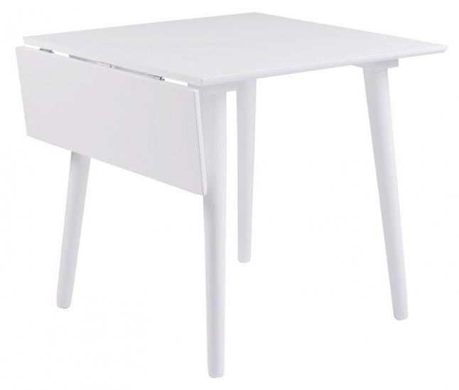 Lotta Klapbord - Hvid 80x80 - Med klap - 105cm