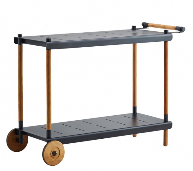 Cane-line - Frame Rullebord - Grå/teak - Cane-line til ind og udendørs