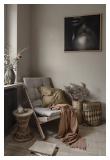 Boogie Lounge stol, Bordeaux/Natur