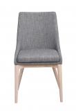 Bea Spisebordsstol, Mørk grå stof - eg