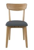 Sedan Spisebordsstol i massiv eg - Mørkegrå sæde