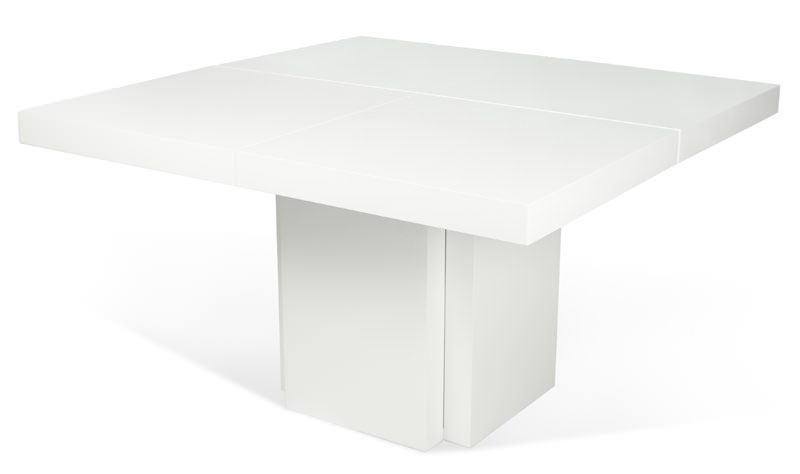 Temahome - Dusk Spisebord - Hvid højglans 130x130