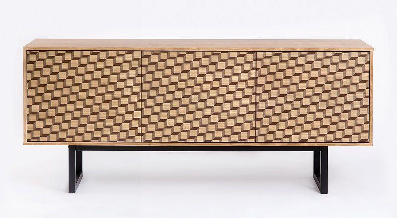 Woodman - Camden Skænk - Natur - Skænk med mønstret 3D front