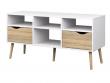 Delta TV-bord - Hvid med egelook