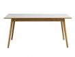 FDB Møbler - C35B Spisebord 160x82 - Eg/Lys grå