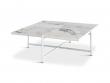 HANDVÄRK - Sofabord 92x92 - Hvid Marmor - Hvidt sofabord med marmor