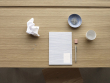 Hübsch Skrivebord 120x60xH77 - Natur