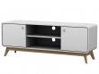Carl TV-bord Hvid med låger