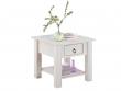 Inga Sofabord hvidpigmenteret fyrretræ - 50x50   - Sofabord med en skuffe