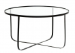 Bloomingville - Harper Sofabord - Sort - Sort sofabord med glas
