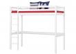 HoppeKids BASIC højseng - 90x200 cm - Hvid højseng med stort skrivebord