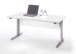 Prima Hæve/sænkebord, Hvid/grå,150cm