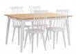 Gabriella Spisebord - Hvid og eg - 140x90