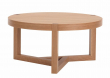 Woodman - Brentwood Sofabord - Lys træ - Rundt sofabord Ø82 cm