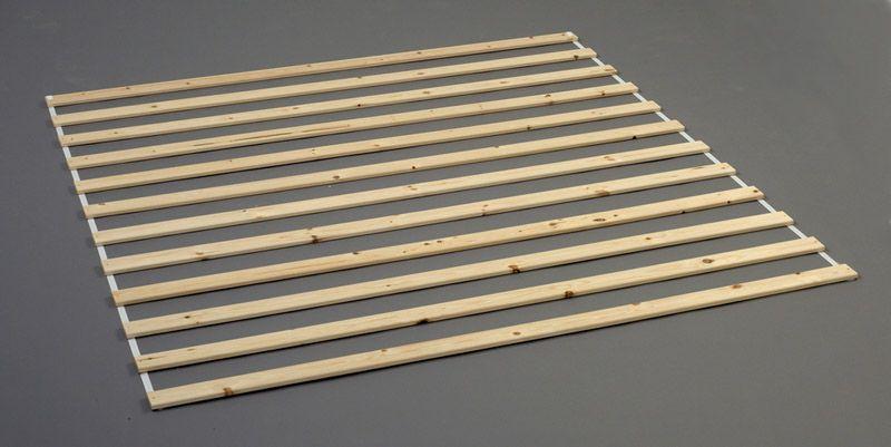 Sengelameller - Lys træ 160x200