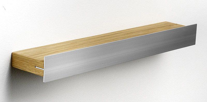 Hoigaard Design Gallerihylde - Eg - SR-38 med aluminiumskant - smal