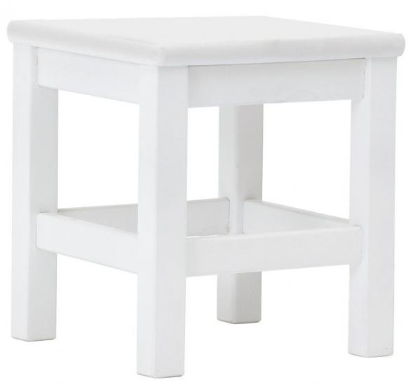 HoppeKids Taburet - Hvid - Hvid skammel