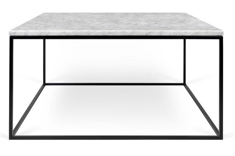 Temahome Gleam Sofabord - Hvid marmor, sort stel 75 cm