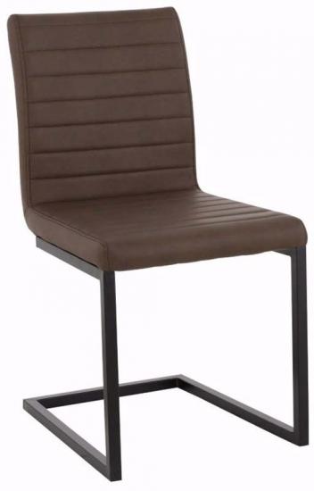 Sandra Spisebordsstol Brun PU læder - Spisestuestol i brunt kunstlæder