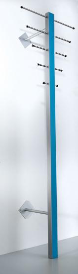 Milano ST-1 Stumtjener - Stående knagerække i aluminium og turkis