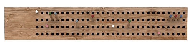 We Do Wood - Scoreboard horizontal - Bambus - Horisontal knagerække med 12 pinde
