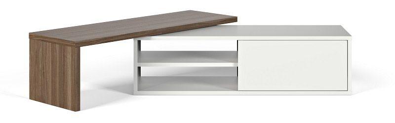 Temahome Move TV-bord - Hvid/brun