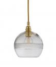 Ebb&Flow - Check mini stripe Krystal Rowan pendel m. Guld Ø15
