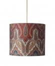 Ebb&Flow - Lampeskærm, brocade, blue/red, Ø35, loftlampe