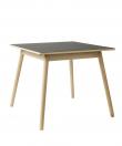 FDB Møbler - C35A Spisebord 82x82 - Bøg/Sort