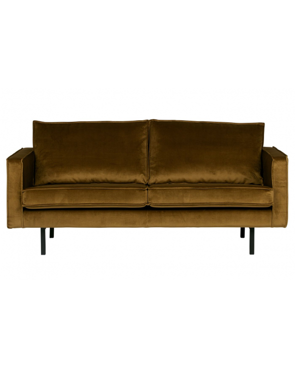 Rodeo 2,5-pers. sofa m. velour - Honning gul
