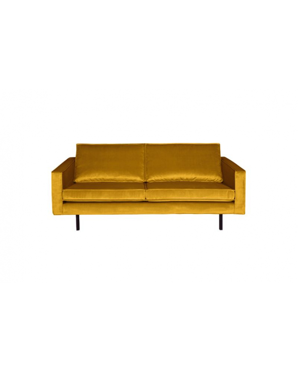 Rodeo 2,5 pers. sofa velour - Okker