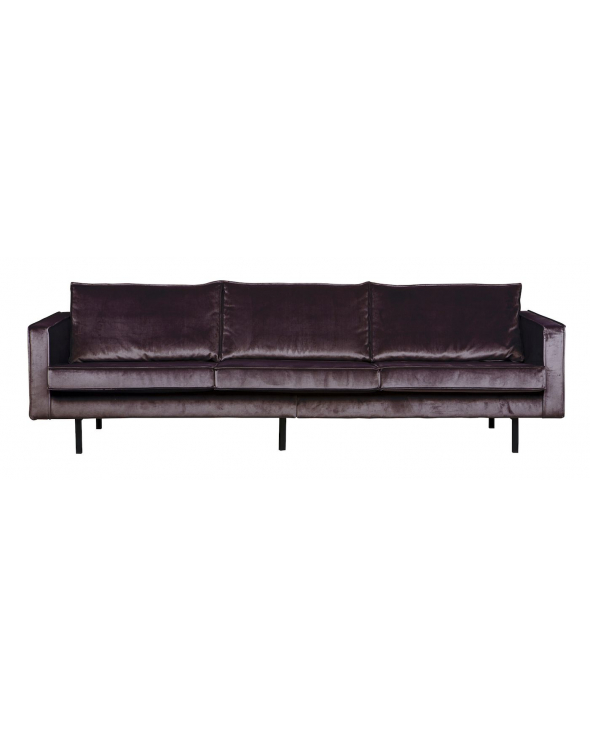 Rodeo 3 pers. sofa velour -  Grå