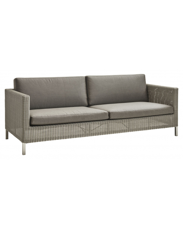 Cane-line Connect 3-pers. sofa hyndesæt, Taupe